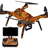 MightySkins Protective Vinyl Skin Decal for 3DR Solo Drone Quadcopter wrap cover sticker skins Burning Up