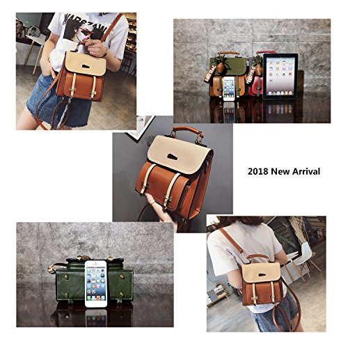 PU Pineapple Caissip Handbag Brown Red Black Pendant Backpack amp; Women Commute for Yellow Leather School Green Yellow Daily xxwv8Uq5