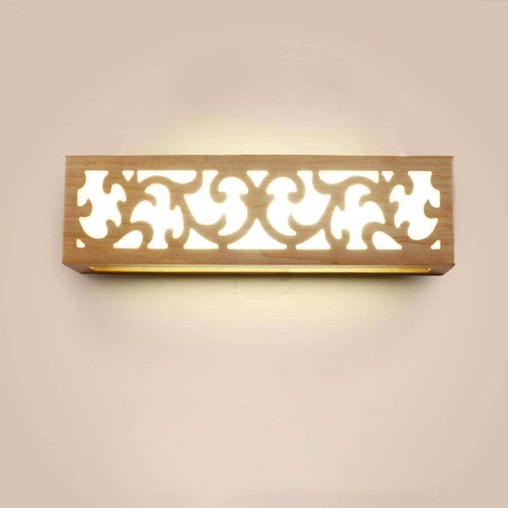 Chuiqingwang LEDベッドルームウォールランプベッドサイドソリッドウッドのリビングルームバルコニー廊下キッチンダイニングルームエントランスショールームオフィススタディホテルモダンな装飾的な壁ランプ(光源を含まず) (Color : A, サイズ : Large) Large A B07SCJ3BKL