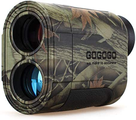 Gogogo 6X Hunting Laser Rangefinder Bow Range Finder Camo Distance Measuring Outdoor Wild 650 1200Y with Slop High-Precision Continuous Scan