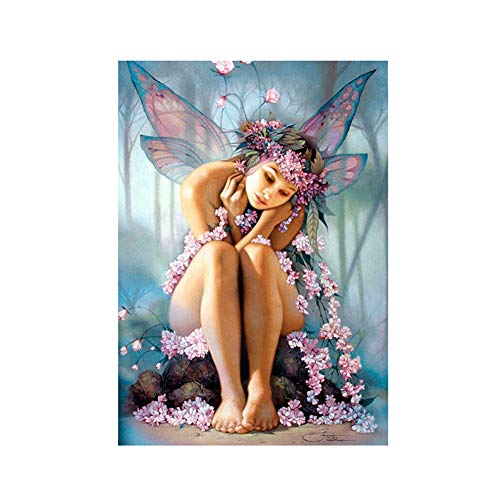lightclub Flower Fairy DIY Partial Diamond Painting Cross Stitch Craft Kit Home Wall Decor z367