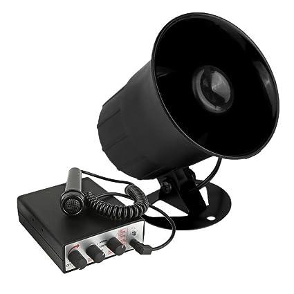 Pyle 6 Tone Sound Car Siren Vehicle Horn w/Mic PA Speaker