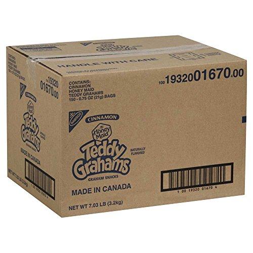Teddy Grahams - Graham Cracker Cinnamon Cookies 150 Case .75 - Shrink Wrapped Binding