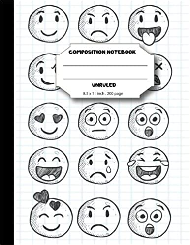 Amazon com: Composition notebook unruled 8 5 x 11 inch 200