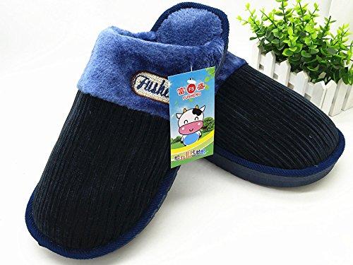 CWAIXXZZ pantoufles en peluche Laugmentation dhiver chaussons coton code mens King Size 45 46 47 48 dépaisseur, antidérapants chaussures Accueil chaleureux (3,0 pour un 43-44 pieds de lusure), l