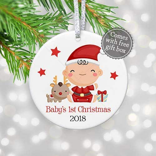Amazon Com Baby S 1st Christmas Ornament 2018 New Baby