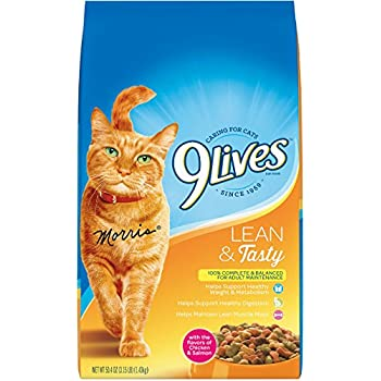 9 Lives Lean And Tasty Dry Cat Food, 3.15 Lb (Pack Of 4)