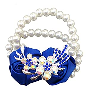 New Lee Royal Blue Artificial Rose Wrist Flower,Bride Bridesmaid Wedding Bouquet,Wedding Supplies 14