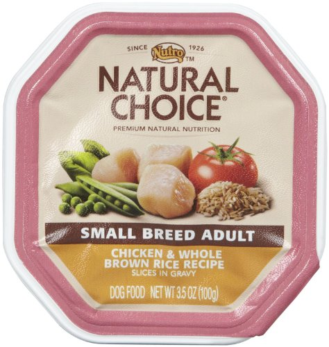 Nutro Natural Choice Small Breed Chicken & Whole Brown Rice - Adult Dog (24x3.5oz)