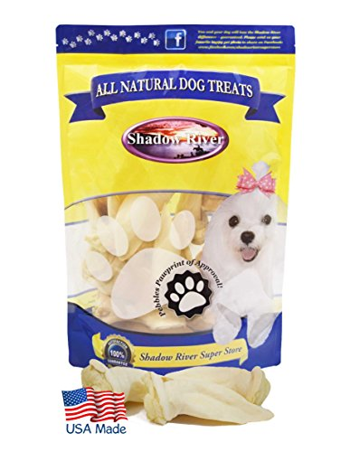 Shadow River Lamb Ear Chews for Dogs - Premium All Natural Treats - 10 Pack Petite Small Size Ears by Shadow River