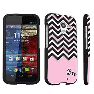 DuroCase ? Motorola Moto X 2013 First Generation Hard Case Black - (Black Pink White Chevron B)