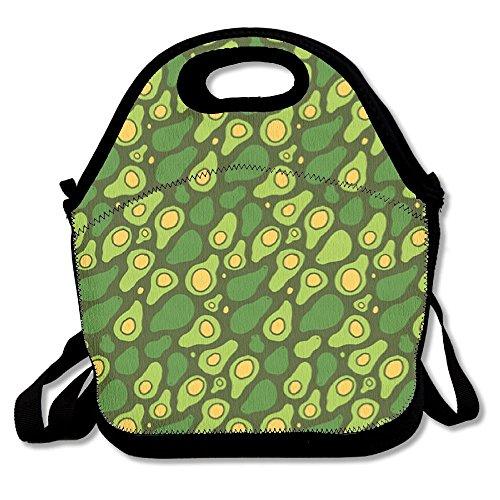 HYEECR Vocado Pattern Shop Preview Portable Lunch Tote Bags, Takeaway Lunch Box, Outdoor Travel Fashionable Handbag For Men Women Kids Girls -