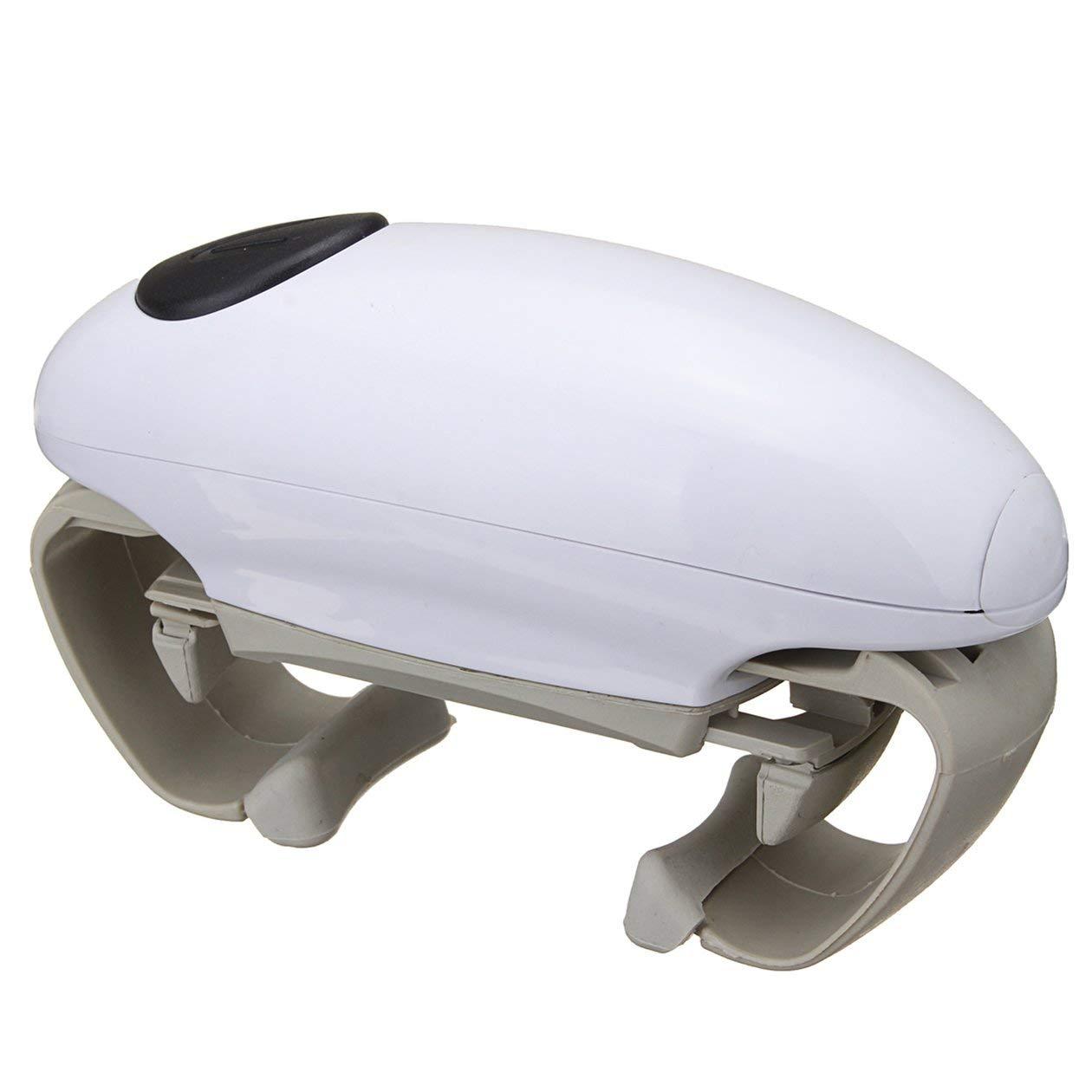 HONGIGI Ouvre-Bocal /électrique portatif Ouvre-bo/îtes sans Fil /à ouvre-Porte Automatique /à Piles Outil de Cuisine Couleur: Blanc