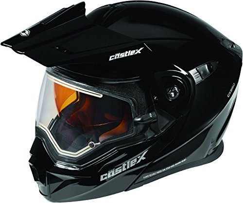 Castle X EXO-CX950 Electric Modular Snowmobile Helmet Solid Black MED