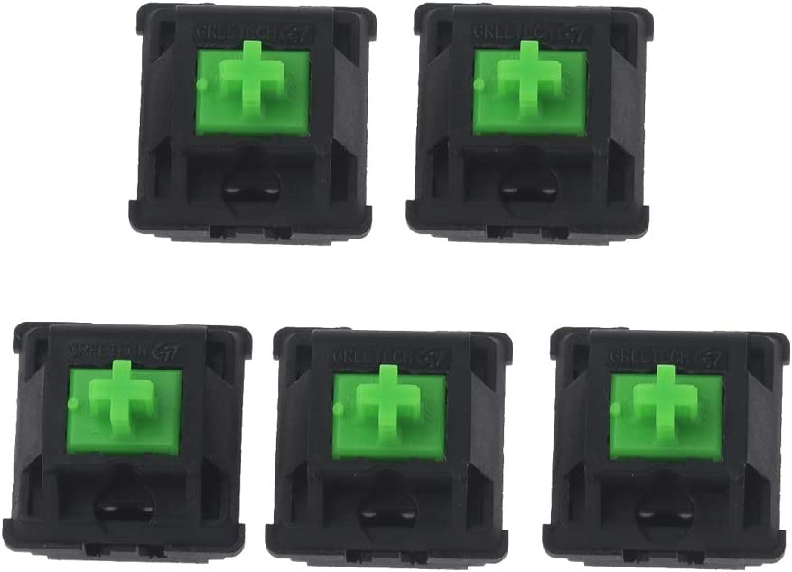 CUCUDAI 5Pcs Greetech Green Switches Axis for Razer Gaming Mechanical Keyboard for Cherry MX 3pin Switch