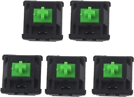 certylu Green Switches Axis para Razer Gaming Teclado mecánico para Cherry MX 3pin Switch