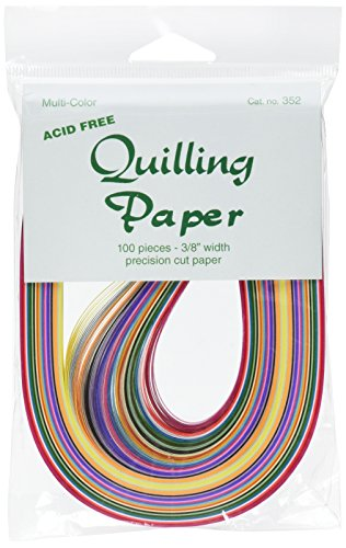 Lake City 3/8-Inch Craft Quilling Paper 100-Pack, 25 Colors