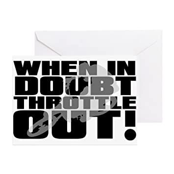 Amazoncom CafePress When In Doubt Throttle Out Dirt Bike