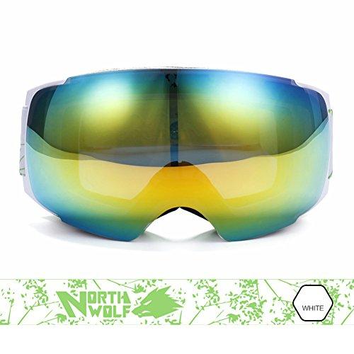 SE7VEN Masques De Snowboard Administrateur,Lentille Double Couche Ultra Wide-ange Lentille Sphérique Lentilles De Vision Nocturne Remplaçable G