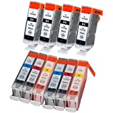 10 packs Ink For PGI-5 CLI-8 Canon Pixma IP3300 IP3500 MX700