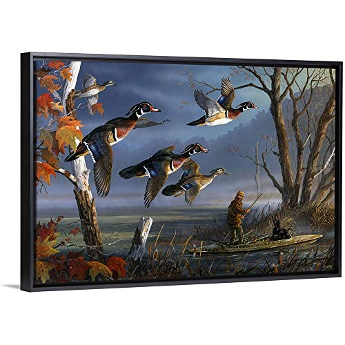 Woodies on The Wing Black Floating Frame Canvas Art, 38