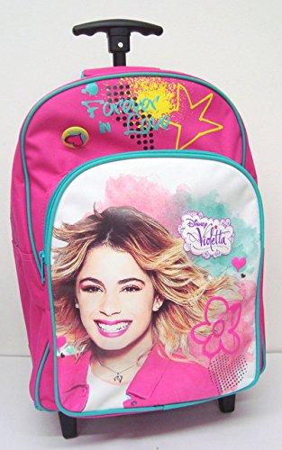 Trolley mochila Escuela Primaria - Violetta Disney para siempre (Dim. 42x32x17 cm)