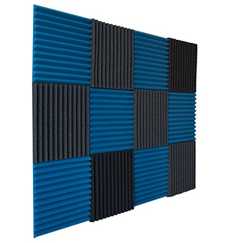 12-pack-ice-blue-charcoal-acoustic-panels-studio-foam-wedges-1-x-12-x-12