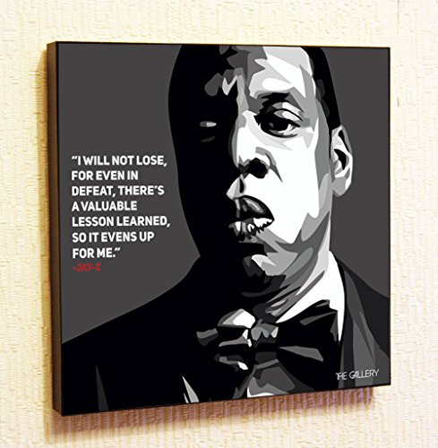 Madonna Famous Costumes (Jay-Z Singer Music Artist Actor Decor Motivational Quotes Wall Decals pop Art Gifts Portrait Framed Famous Paintings on Acrylic Canvas Poster Prints Artwork Geek Decor (10x10