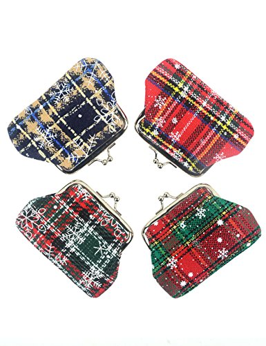 - POPUCT Fashion Women's Cute Classic Exquisite Buckle Mini Coin Purse (4 pack)(F)