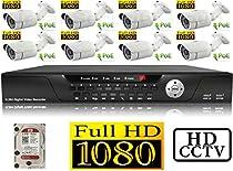 USG 1080P HD IP CCTV Kit: 1x 16 Channel NVR + 8x 1080P 3.6mm PoE IP Bullet Cameras + 1x 2TB HDD *** High Definition CCTV Video Surveillance