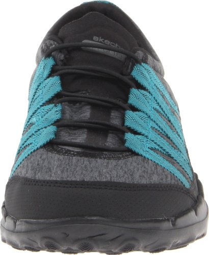 Zapatillas Skechers Performance Para Mujer Go Sleek Rush Walking Black / Verde Azulado