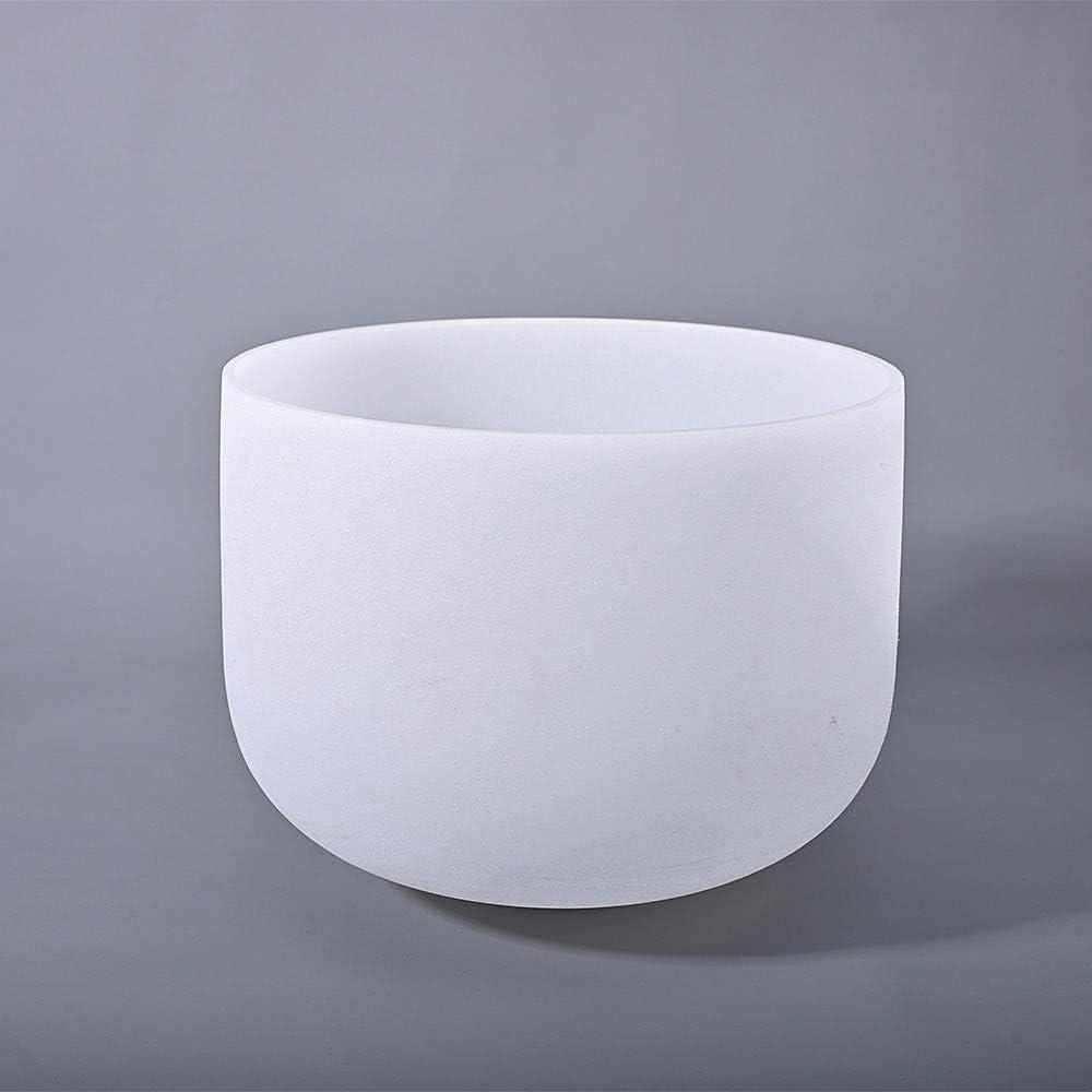 son Gu/érison givr/é C Note Root Chakra Bol chantant en cristal de quartz 25 cm avec gratuit Sac en toile et maillet et joint torique