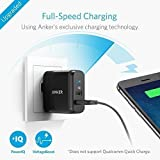 Anker 2-Port 24W USB Wall Charger PowerPort 2 with PowerIQ for iPhone 7 / 6s / Plus, iPad Air 2 / mini 3, Galaxy S Series, Note Series, LG, Nexus, HTC and More