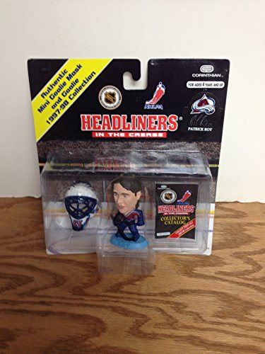 (1997 Patrick Roy Colorado Avalanche NHL Hockey Mini Headliners Action Figure with Collectors Catalog)
