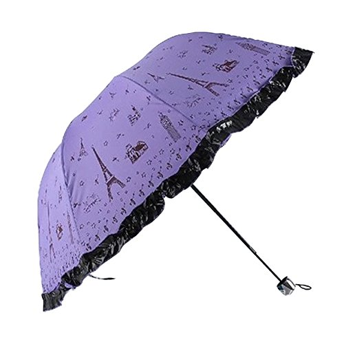 merryshop iron tower flower anti uv sun umbrella third folding uv protected parasol umbrella. Black Bedroom Furniture Sets. Home Design Ideas