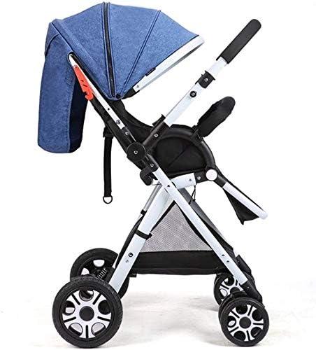 Opinión sobre OESFL Cochecito de carro convertible carretilla compacta silla de paseo sola, del niño del asiento de la carretilla de la carretilla con la taza titular (Color : Blue)
