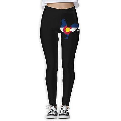 DDCYOGA Colorado Flag Rooster Women's Tights Activewear Yoga Leggings Bike Running Yoga Pants For Girls