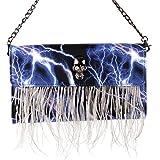 Search : Show Story Women's Girls Punk Skull Feather Gems Design Fashion Outdoor Evening Clutch Handbag Bag,FB90022