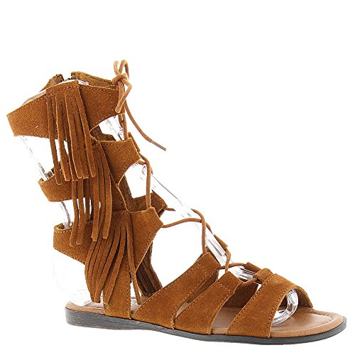 Minnetonka Womens Milos Gladiator Fringe Sandal 11 B Brown
