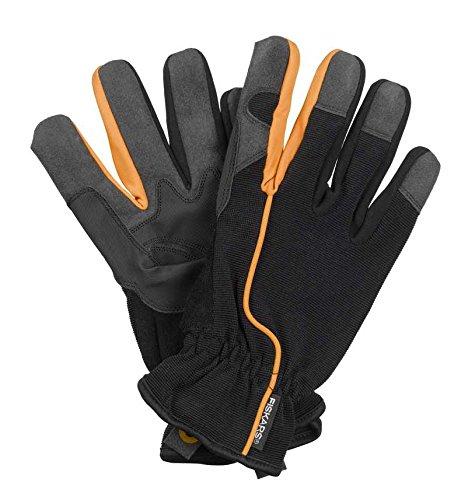 Fiskars 160005 Guantes de jardín, talla 8, Color: Negro/Naranja