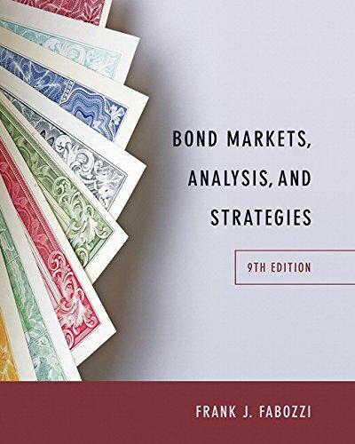 Bond Markets, Analysis, and Strategies (9th