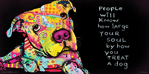 Dean Russo Dog Soul Quote Modern Animal Decorative Art Print (Unframed 12x24 Poster) (Pet Art Print)