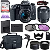 Canon EOS 77D DSLR Camera w/ 18-55mm STM Lens + 32GB Card + Photo Accessory Bundle