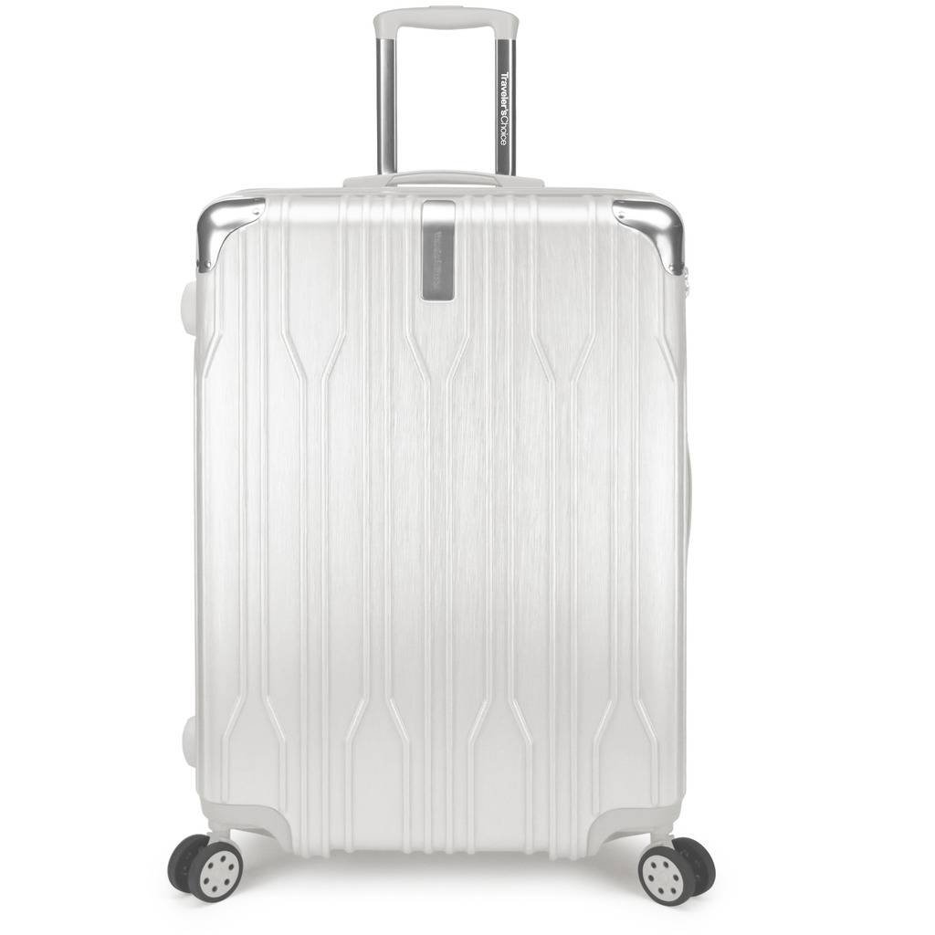 Traveler's Choice Bell Weather Expandable 28'' Spinner Luggage, White