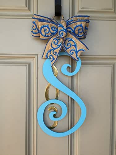 Amazon.com: Monogram Door Hanger, Initial Door Hanger