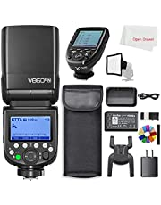 Godox V860III-N TTL 2.4G GN60 HSS Camera Flash with10-Speed Adjustable Modeling Light, Extremely Fast Recovery Battery with Xpro-N Trigger Transmitter Compatible for Nikon Camera
