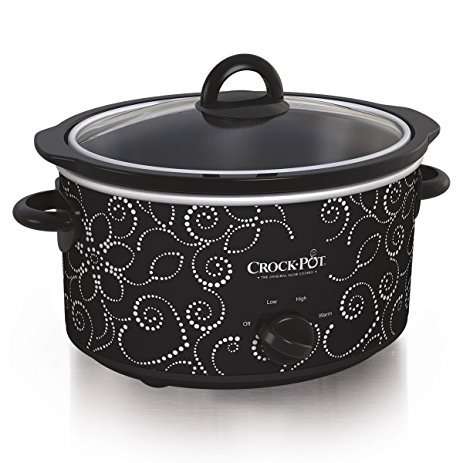 Crock-pot Scv400-pt: Manual Slow Cooker, Heart & Flower Dotted Patte