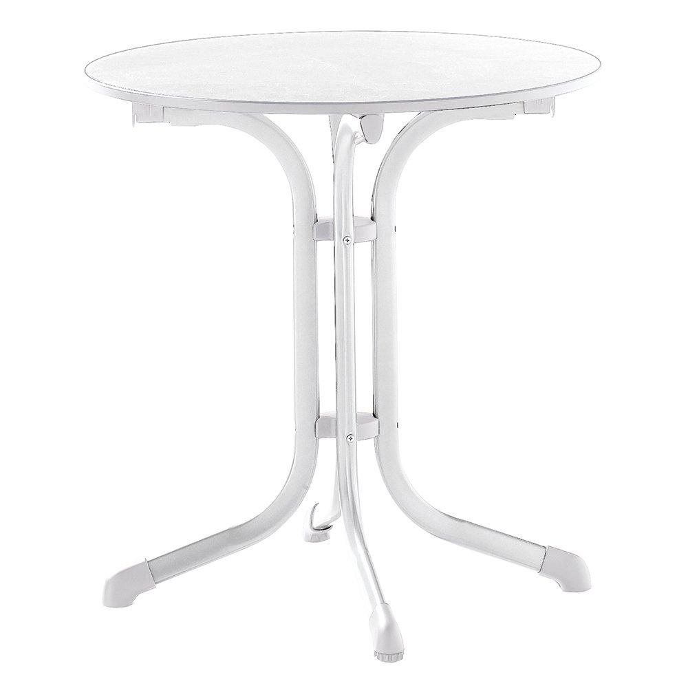 Sieger 1125-40 Puroplan Table de Pliante Boulevard Blanc 68 x 68 x 72 cm