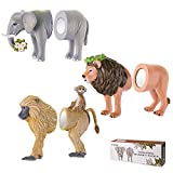 Avery Barn 6PC Safari Animal Head & Butt 3-D Refrigerator Magnets Funny