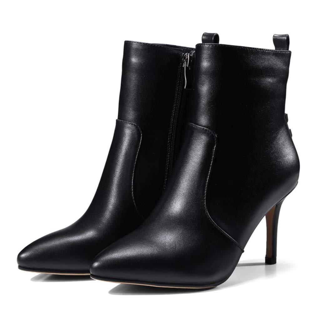 Damenschuhe Stiefel, Herbst Winter Leder wies Persönlichkeit Mode Stiefel, Damen Seitlichem Reißverschluss Rivet Stiefel, Stiletto Heel Stiefelies, Martins Stiefel Party & Evening